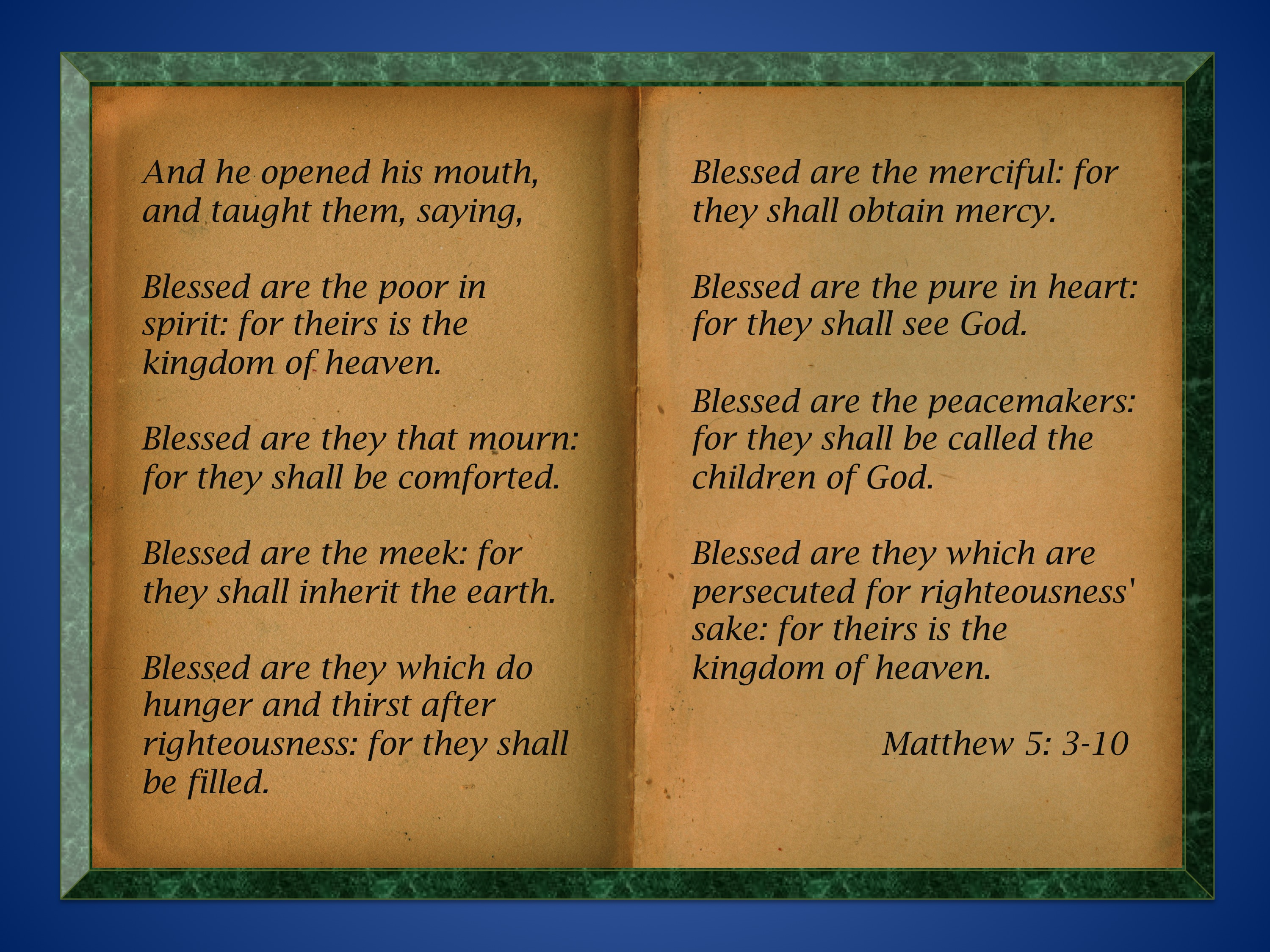 blog post 6 the beatitudes
